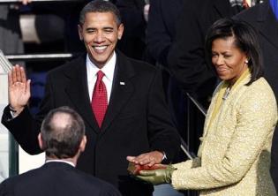 Obama takes the oath
