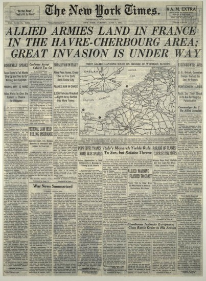 D-Day New York Times