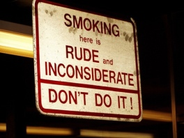 smoking is rude in NYC