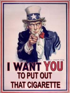 Uncle Sam says NO SMOKING