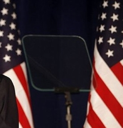 president teleprompter