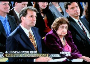 Chip Reid and Helen Thomas