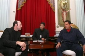 Kevin Spacey with Hugo Chavez