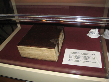washington's inaugural bible_aug 2009